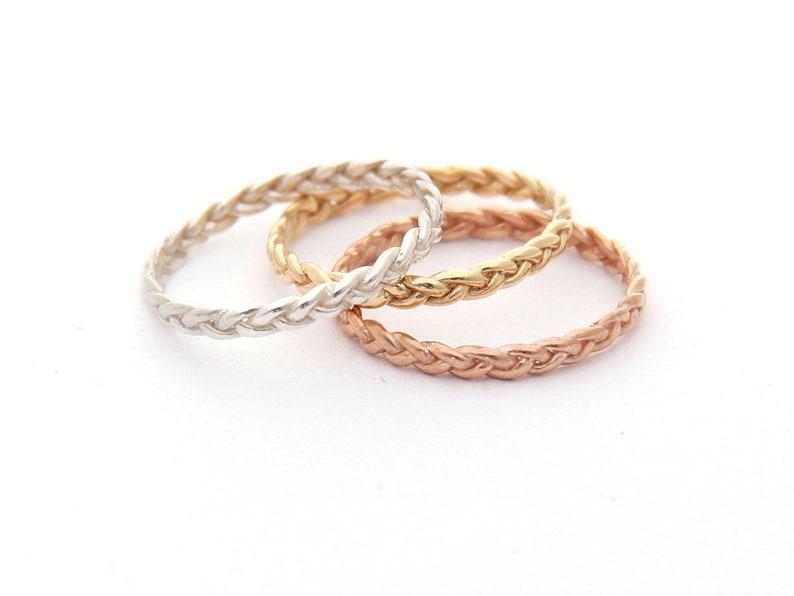 Unique Eternity Ring 14K Gold Wedding Band For Women Rose image 0