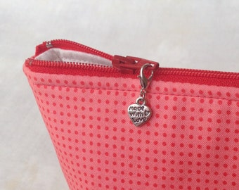 Made With Love Zipper Charm, Made With Love Zipper Pull