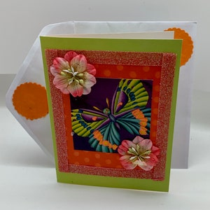 Girl Birthday Greeting Card with Matching Lined Envelope