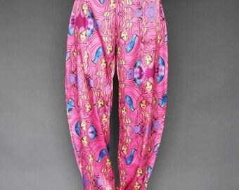 Seidige Weites Bein Hose / Harem Hosen / Boho Satin Hose / Brennen Mann  Haremshose / Marokkanischen Hosen / Seidig Hippiehose / Exotische Hohe  Taille Panst