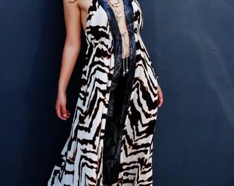 Woman Open Back Maxi/ Summer Dress/ Maxi Chiffon Dress/ Halter Dress/ Maxi Dress/ Boho Dress/ Party Dress/ Long Sexy Dress/ Cover Up Dress