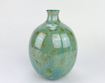 Spring Green Bottle Vase