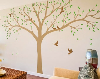 Large Tree Wall Decal Nursery Tree Wall Decals Huge Tree mural Sticker Removable Vinyl Wall Decal Whimsical Wall Art - KC061