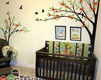 Baum Wand Aufkleber   Kinderzimmer Dekoration   Baum Wand Aufkleber   Ecke  Baum Aufkleber   Set Von Zwei Bäumen   KC019