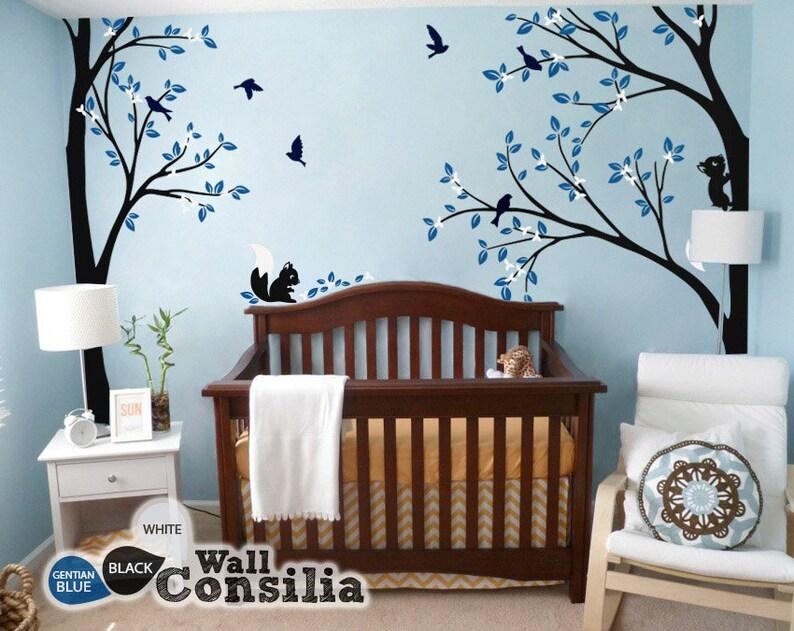 tree wall decal nursery wall decoration tree wall sticker | etsy