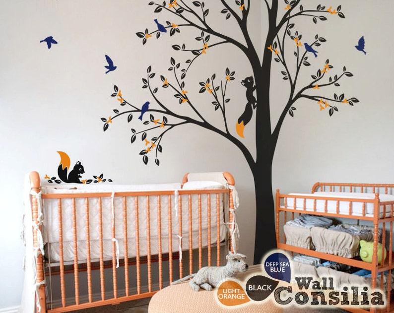 7fa221edb33a Tree Wall Decal Nursery Wall Decoration Tree Wall Sticker | Etsy