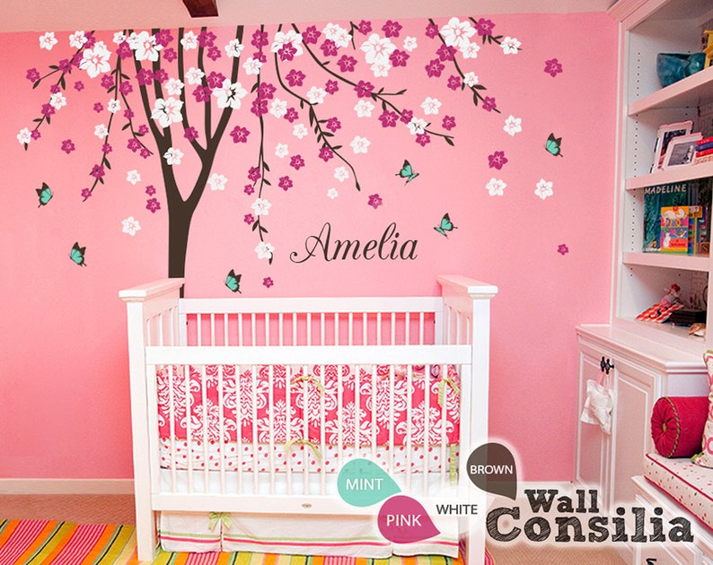 baby nursery wall decals cherry blossom tree wall decal tree | etsy
