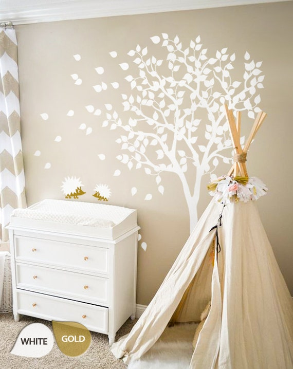 White Tree Wall Decals - Nursery Wall Decal - Large Kids Room Wall Decor  Wall mural sticker - Large: approx 79\