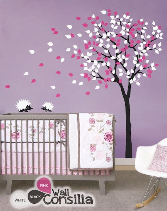 baby kinderzimmer wandtattoos baum wandtattoo etsy. Black Bedroom Furniture Sets. Home Design Ideas