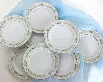 Lady Fair Japan Fine China Bread Dessert Plates Wedding Cake Plates Celebration Cake Serving Plates Set of 8 Trending Vintage