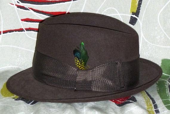1950's Mens Wool Hat!! Mad Men!!
