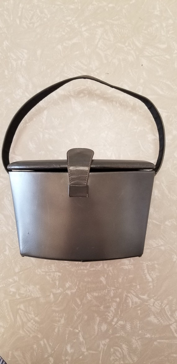 1950's Silver Gray Box Purse!!