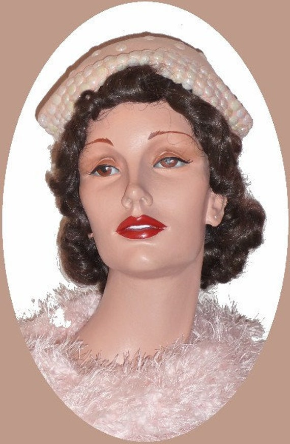 1950's Pink Dress Hat!!