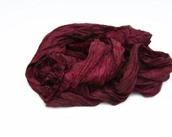 burgundy silk scarf, merlot silk scarf, vine silk scarf - Merlot Glamour -  burgundy, vine, merlot silk scarf.