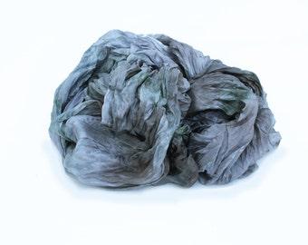 grey silk scarf - All shades of Grey - light  grey, blue grey, green grey, brown grey silk scarf.