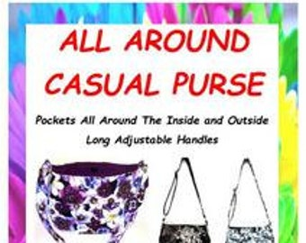 Adjustable Handles,Sewing Purse Pattern, Medium Purse, Fabric Purse Pattern, Bag for Women, Handmade Purse Pattern, Made in Colorado, Sew