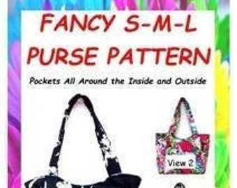 Pattern for Shoulder Bag, Small Medium Large Tote, Purse Pattern, Pattern for Bag and Purse, Pattern for Handmade Purse, Sew Tote Bag