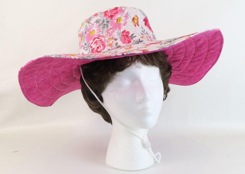 eb11ccfb33533 Handmade Floral Hat Women Garden Hat Large Summer Hat