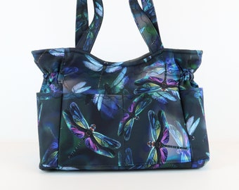 Dragon Fly Shoulder Bag, Refund Shipping, Buy Any 2,  Purses and Bags, Quilted Handbag, Purses and Bags, Fabric Bag, Bags and Purses, Gift