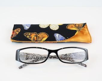 Reading Glasses Case, Soft Glasses Case, Glasses Holder, Glasses Cozy, Eyeglass Fabric Case, Case Holder, Quilted Glasses Case, Man Gift