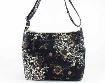 Cross Body Zipper Bag, Refund Shipping, Buy Any 2, Black Brown Purse, Bag and Purse, Shoulder Bag Purse, Gift, Purse and Bag, Quilted Bag