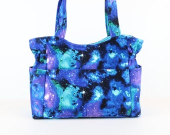 Stary Night Purse, Free Shipping, Buy Any 2, Shoulder Bag Purse, Mom Gift, Magnet Purse, Quilted Handbag, Purses and Bags, Bags and Purses