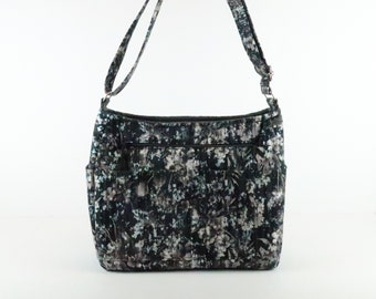 Cross Body Bag, Refund Shipping, Buy Any 2, Black Gray Purse, Bag and Purse, Shoulder Bag Purse, Zipper Purse and Bag, Quilted Bag, Gift