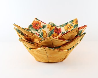 Lg Microwave Bowl Cozy, Buy Any 4 Bowls-Refund Shipping, Microwave Soup Bowl, Hot Pad, Insulated Bowl Holder, Mom Dad Gift, Pot Holder