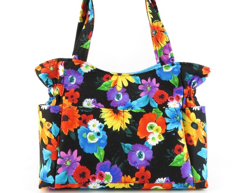 fb1ac7fe7 Floral Purse, Shoulder Bag Purse, Fabric Handbag, Quilted Fabric Purse,  Purses and Bags, Diaper Bag, Mom Gift, Shoulder Bag, Travel Purse
