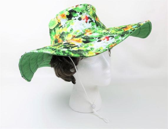 6436e49c9fe3c Floral Handmade Hat Women Garden Hat Large Summer Hat