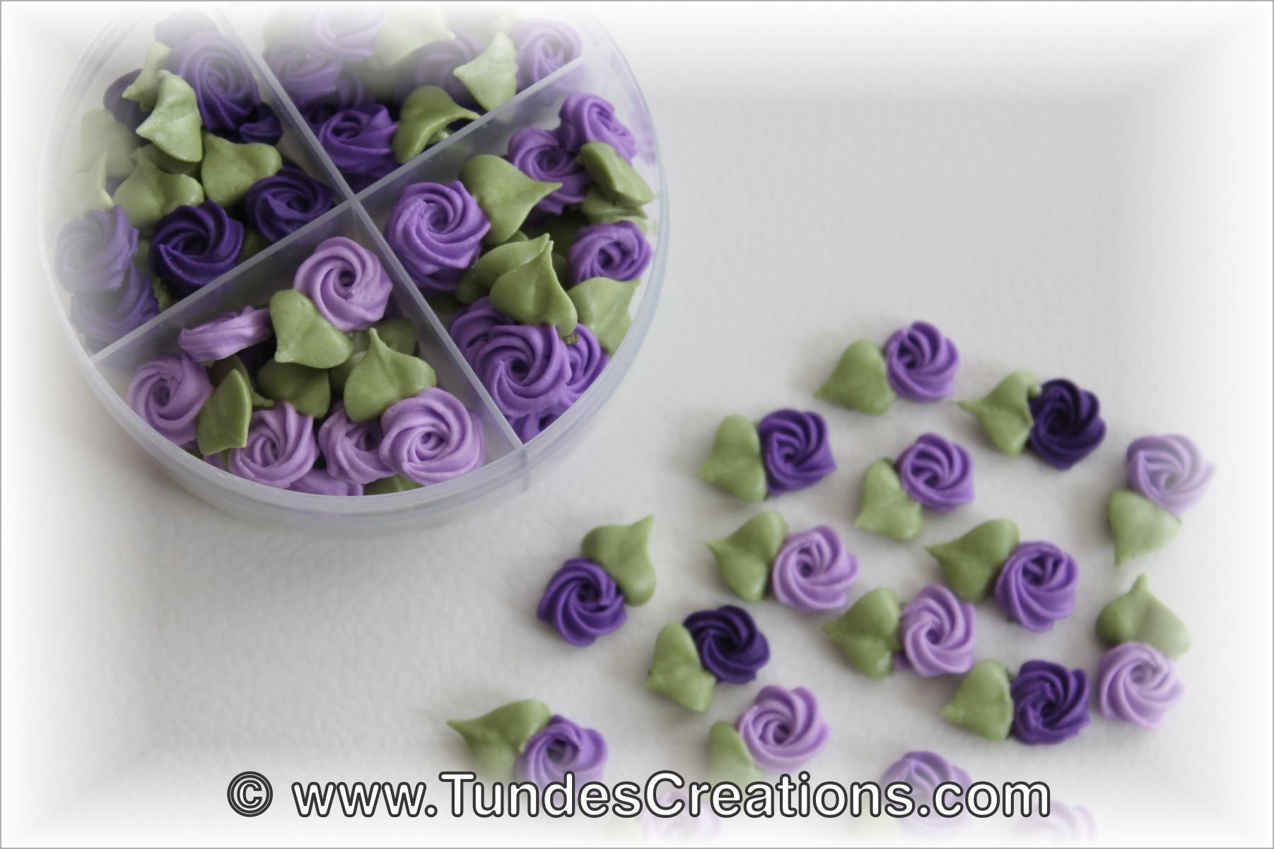Royal Icing Flowers For Cookie Decorating Swirl Roses With