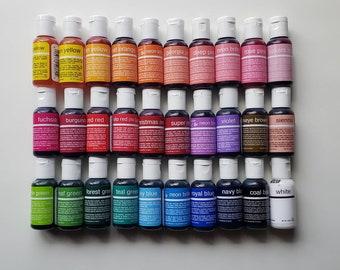 Gel Food Color - Chefmaster Liqua-Gel sets - 0.75 oz bottles