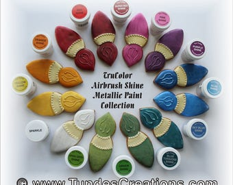 TruColor Airbrush Shine colors - 1  jar, Natural food coloring, your choice of the 25 colors available