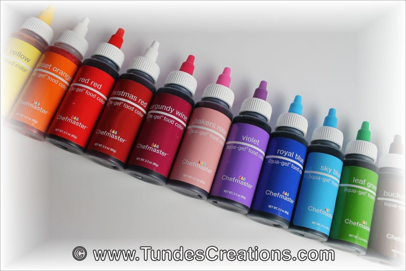 Gel Food Color - Chefmaster Liqua Gel - Artisan Accent - 2 oz twist cap  bottle
