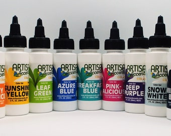 Artisan Accents gel food colors - 2 oz. twist cup bottle, color of your choice