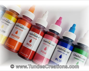 Chefmaster Candy Colors, Chocolate Colors, 2 oz bottles, your choice of color