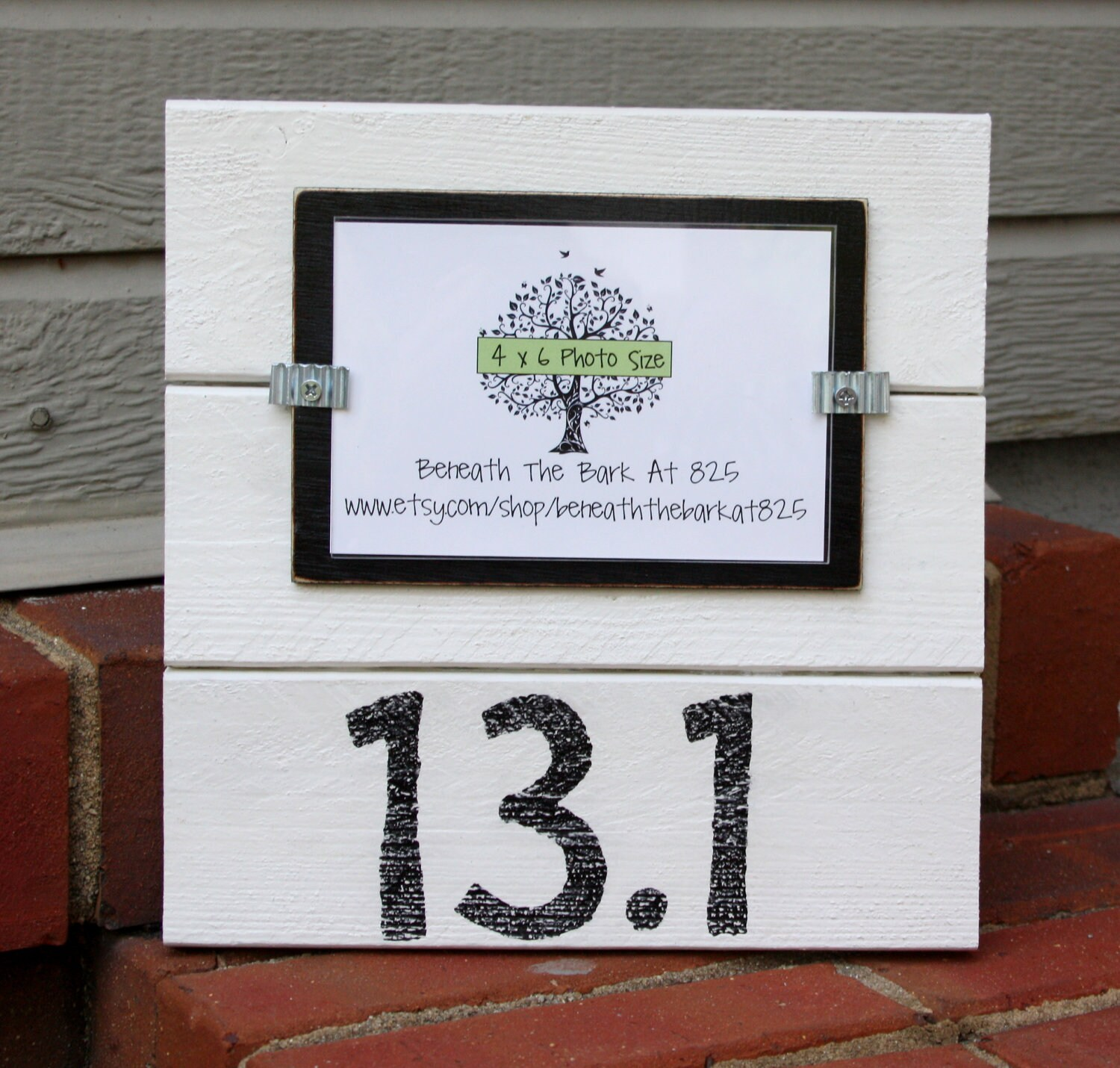 131 Half Marathon Wood Picture Frame Holds A 4x6 Photo Etsy