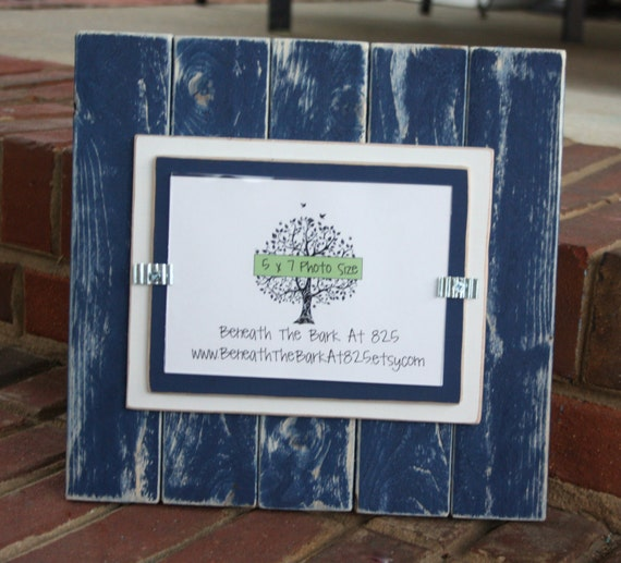 Picture Frame Distressed Wood Vertical Boards Holds A Etsy