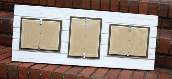 Picture Frame Triple 5x7 Distressed Wood Double Mats | Etsy