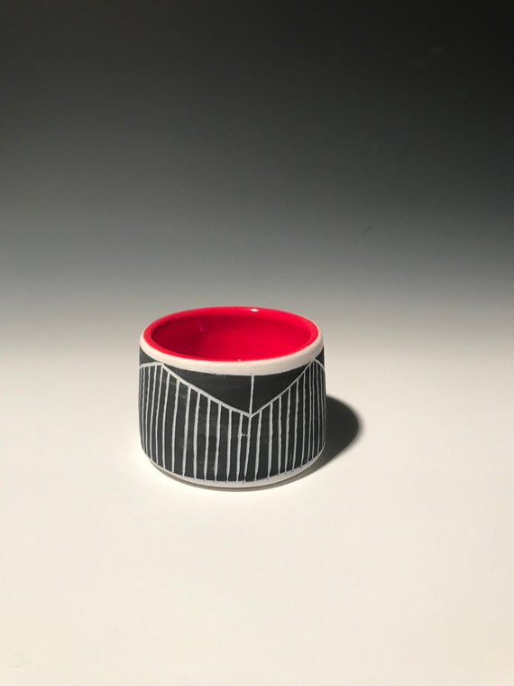 Small Planter with red