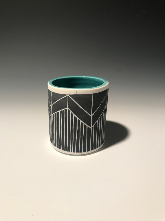 Small Planter with turquoise