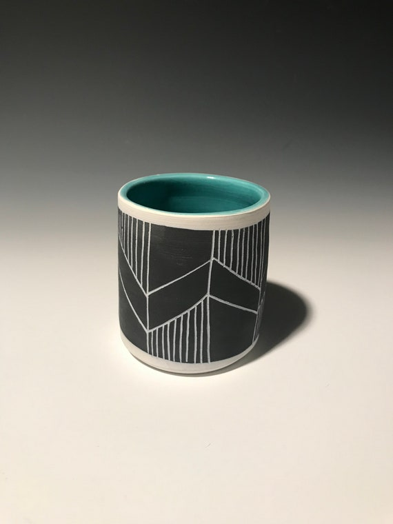 Small Planter with turquoise #1