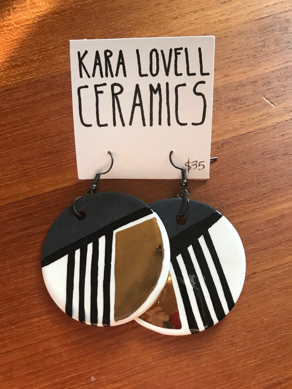 Ceramic earring #17