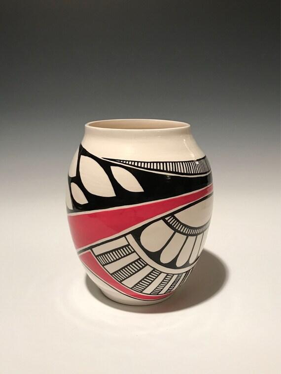 Red Asymmetrical Pot