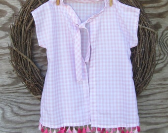 Girls Swimsuit Cover Up,  Girls Robe, Pink Beach Cover Up,