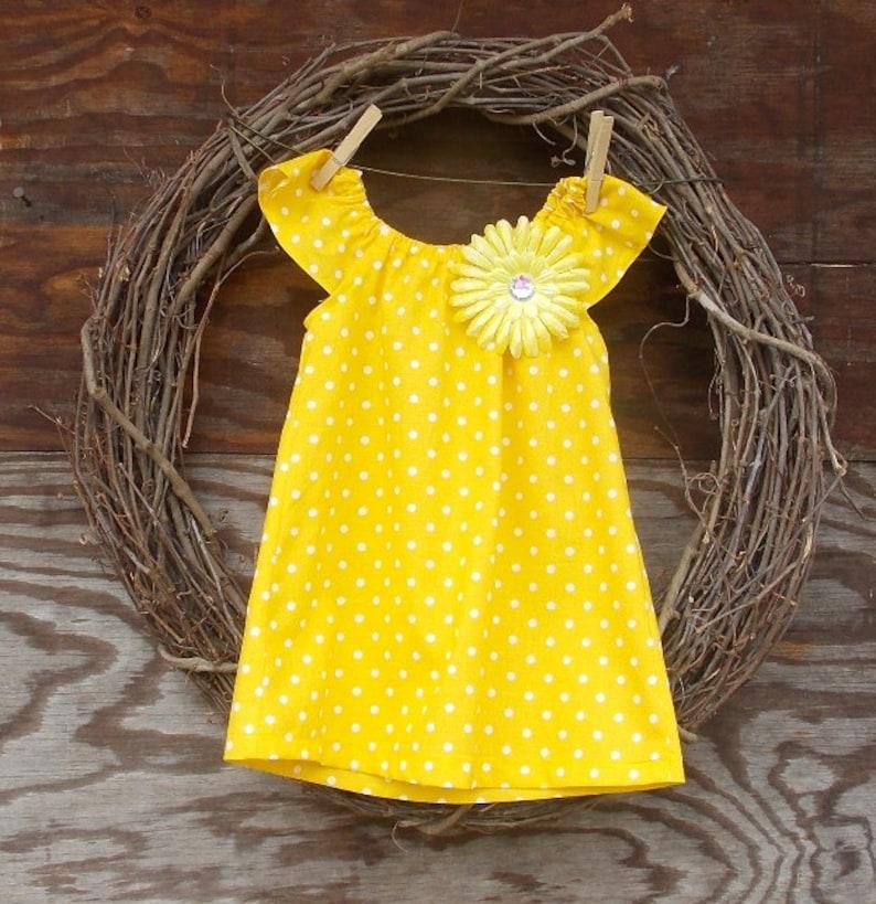 1225403bb Girls Summer Dress Girls Yellow Dress Girls Beach Dress | Etsy