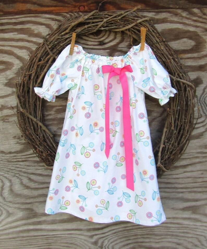 56a57ff89 Girls White Dress Girls Easter Dress Girls Pink Dress | Etsy