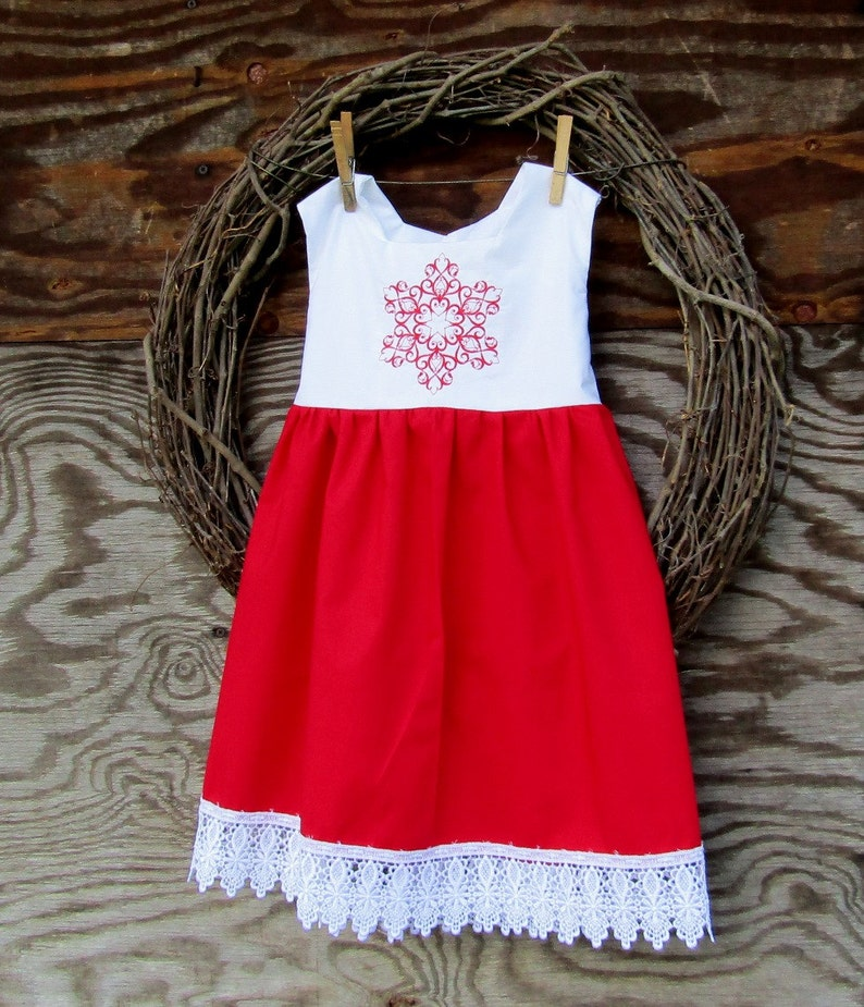 74009e4c85c Girls Red Christmas Dress Girls Red Lace Holiday Dress