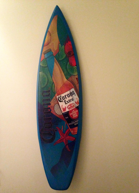 Vintage Sign/ Decorative Wall Decor/ Corona Surf board/ Beer | Etsy