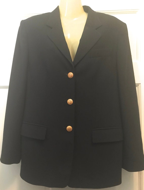 Vintage 90s MONDI, Navy Blue Wool Women's Fashion